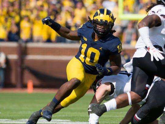 Devin Bush leads Michigan's defense with 50 tackles.