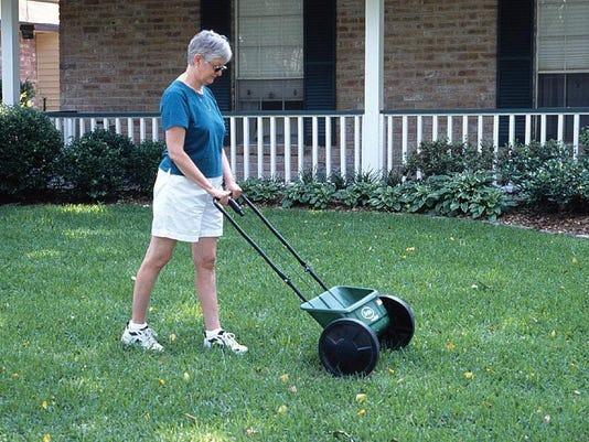 Fertilizing Lawn with Drop SpreaderJPG