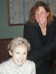 Author Nila J. Webster, right, and her late mother,