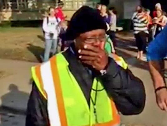 Crossing guard surprise