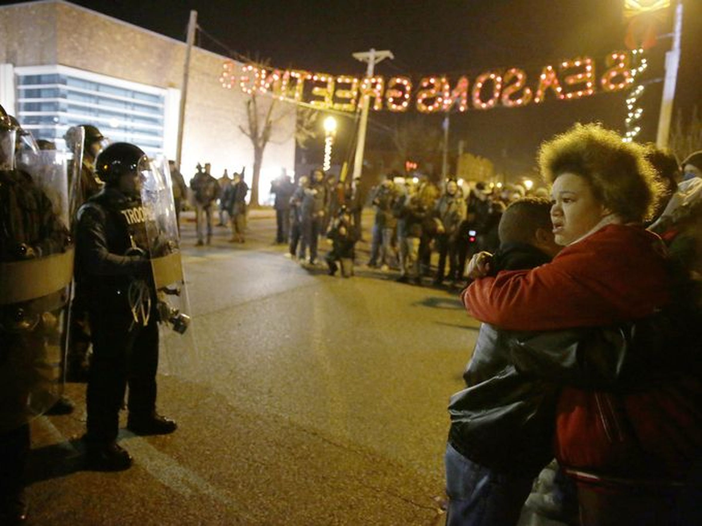 A photo from one of many Ferguson protests.