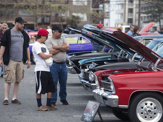Classic muscle cars and hot rods fill the Ocean City