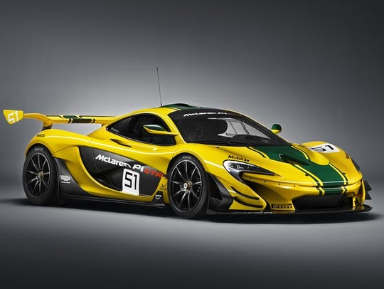 McLaren is bringing the P1 GTR, a track-oriented car,