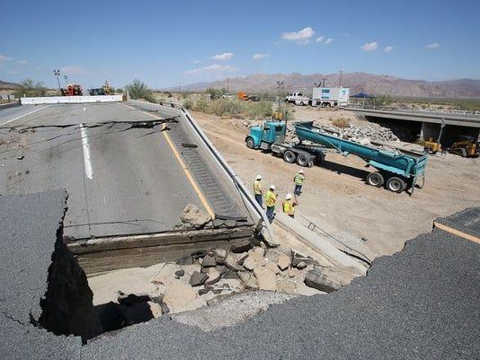 California I-10 bridge collapse
