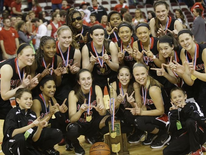 The Lakota West girls' basketball team captured the Division I state title this past March in Columbus.