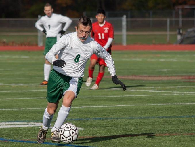 Solomon Schecter took on Alexander Hamilton in the boys class C soccer section finals at Arlington High School in Lagrangeville, NY on November 2, 2014.