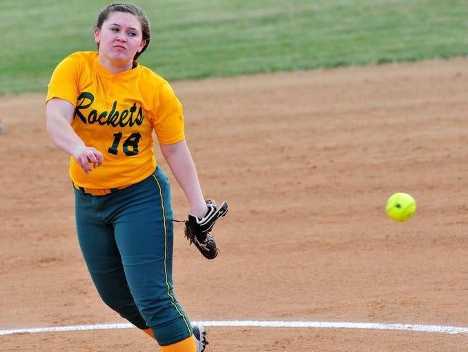 Reynolds softball pitcher Josie Harris.