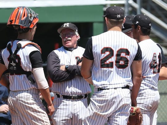Mamaroneck baseball coach Mike Chiapparelli speaks