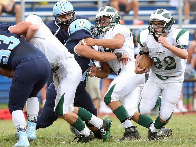 Pleasantville defeated Westlake 20-6 in football action at Westlake High School in Thornwood Sept. 12, 2015.