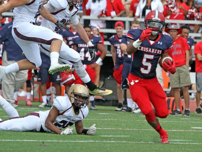 Stepinac defeated Iona Prep 48-6 during a varsity football game at Stepinac High School Sept. 19, 2015.