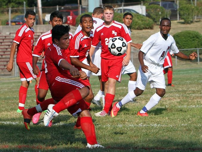 Nyack defeated North Rockland 3-1 in a boys soccer game at MacCalman Field in Nyack Sept. 1, 2015.
