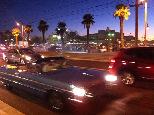 Drivers enjoyed cruising on Central Avenue in Phoenix.