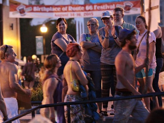 Dozens of people attended a Free the Nipple rally in August. After City Council made the indecent exposure law stricter, the ACLU filed a lawsuit.