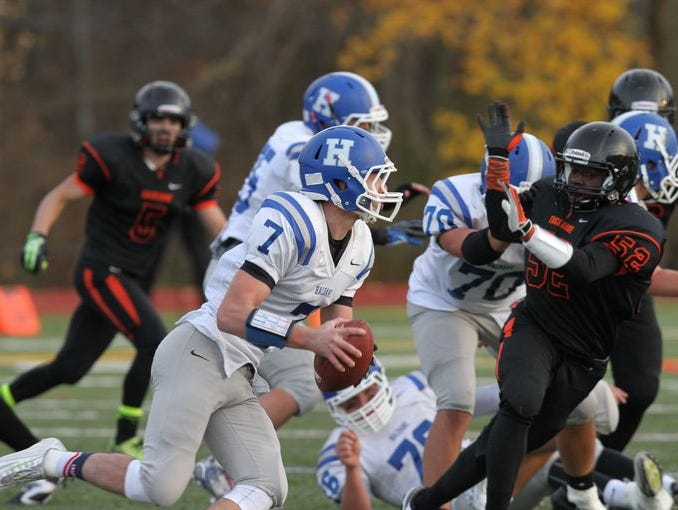 Tuckahoe defeated Haldane to win the Section 1 Class D boys football championship game at Mahopac High School Nov. 8, 2014.