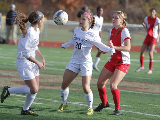 The John Jay High School girls soccer team defeated North Rockland to acoture its first ever Section 1 Class AA championship on Saturday at Arlington