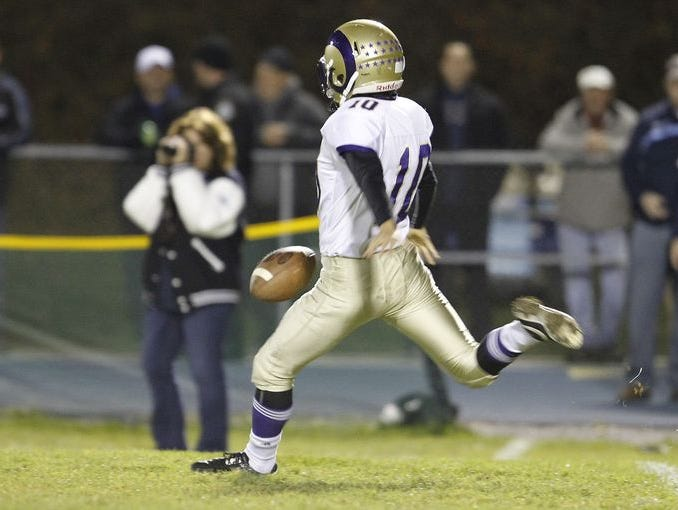Clarkstown North lost 21-7 to John Jay in the in the Class AA semifinals in East Fishkill on Friday, Oct. 30, 2015.