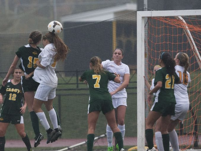 Red Bank Catholic and St. Johh Vianney girls soccer play in a NJSIAA Non-Public South A second round game on Nov. 5, 2015.
