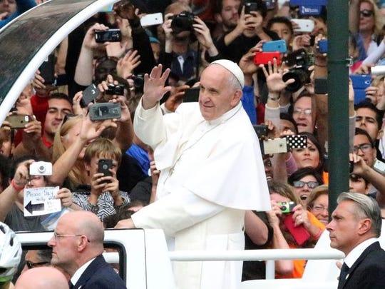 Pope Francis was in Philadelphia in September.