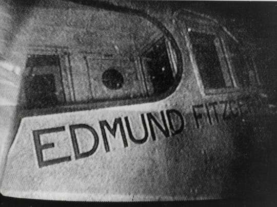 This underwater photo of the sunken SS Edmund Fitzgerald was taken by an unmanned submersible robot, as a research team investigates the wreck site 17 miles northwest of Whitefish Point, Michigan, on Aug. 24, 1989.