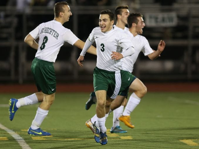 Schechter defeated Southold 1-0 in a semi-final boys soccer game at Lakeland High School in Shrub Oak Nov 4, 2015.