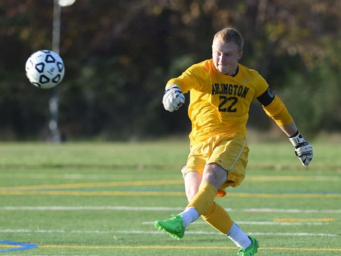 Arlington is shown playing against Ketcham in LaGrangeville on Oct. 14. The Admirals finished the season at No. 1 in the lohud boys soccer rankings,
