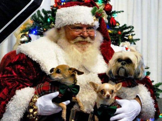 Santa will snap photos with four-legged critters Dec.