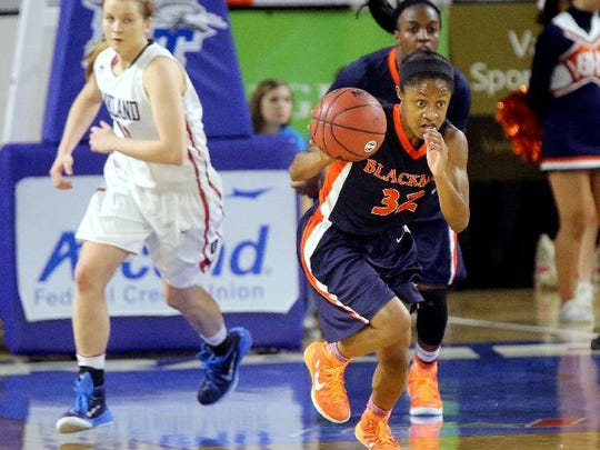Blackman senior and UCONN commitment Crystal Dangerfield.