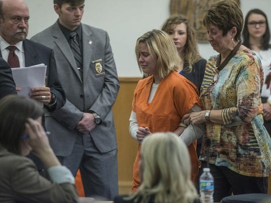 Hallee Ann McLeod in court at Elmore County Courthouse.