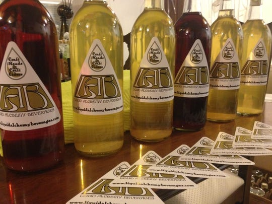 An assortment of Liquid Alchemy Beverages' mead varieties will be on tap when Delaware's first meadery opens.