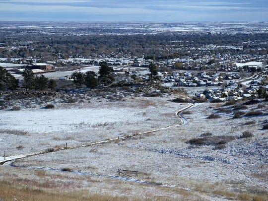 There is a 30 percent chance Fort Collins could see snow by late Sunday night, according to the National Weather Service in Denver. A light snow coats Northern Colorado in this November 2015 file photo.