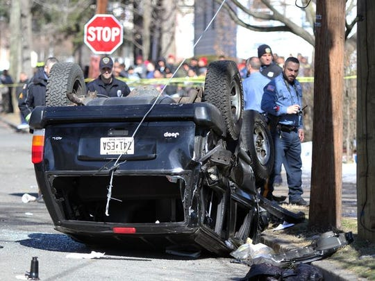 A spectacular crash last year following a police chase of a robbery suspect. Crime, however, has been dropping in Plainfield.