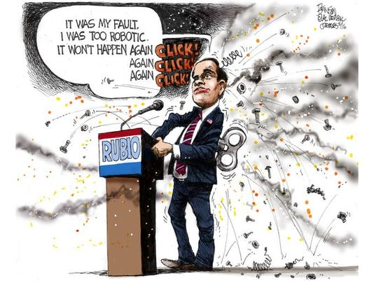 Marco Rubio's gears are grinding