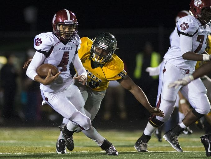 Quarterback Devon Davidson is one of the top returning football players for Asheville High in 2016.