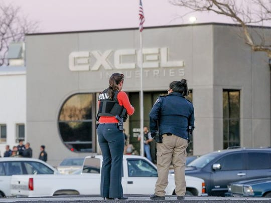 Police killed the Kansas shooter when he began firing on officers at the Excel Industries Plant.