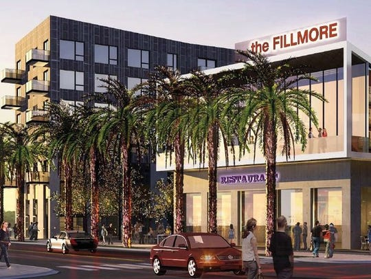 A rendering of the proposed development on Fillmore