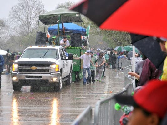 Rainy St. Paddy's Parade