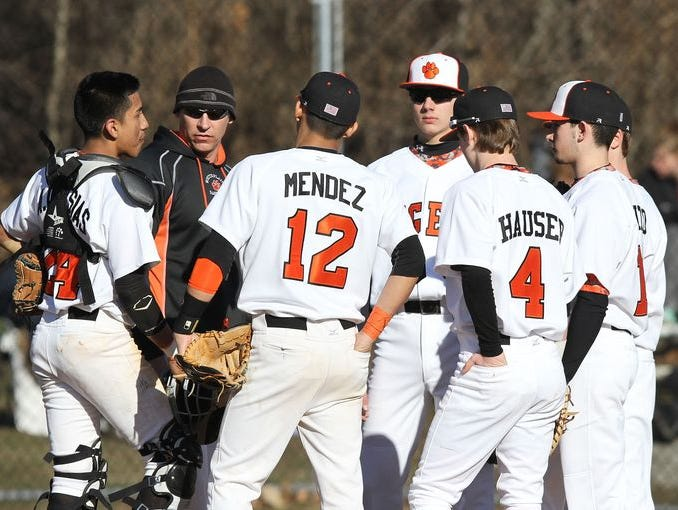 Mahopac defeated White Plains 4-3 in a boys baseball game at White Plains High School April 1, 2015.