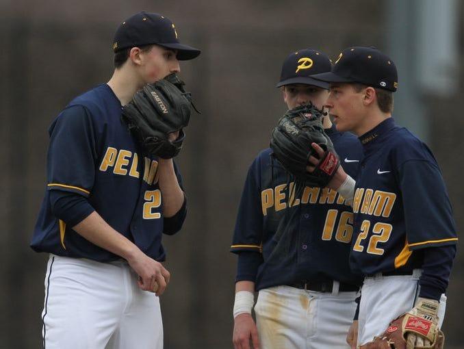 Mamaroneck plays Pelham in boys baseball at Glover Field in Pelham on March 28, 2014.
