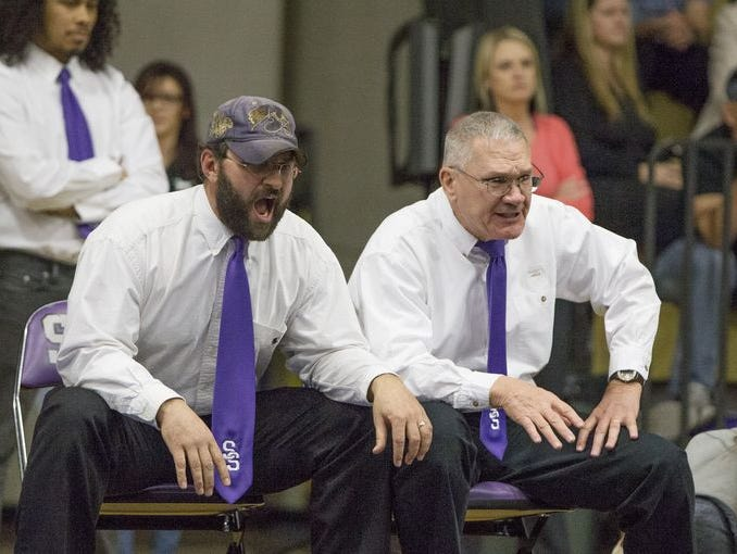 Joe Imelli, left, from Spanish Springs was named the wrestling coach of the year for Nevada.
