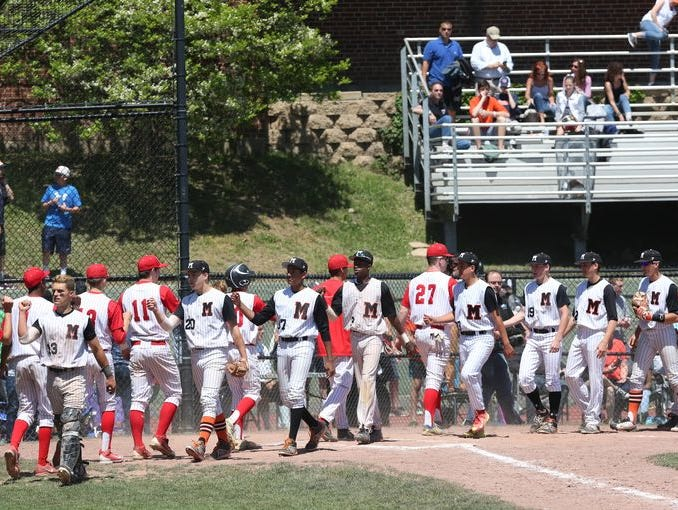 Mamaroneck defeated North Rockland 5-3 in a boys baseball playoff game at Mamaroneck High School May 23, 2015.