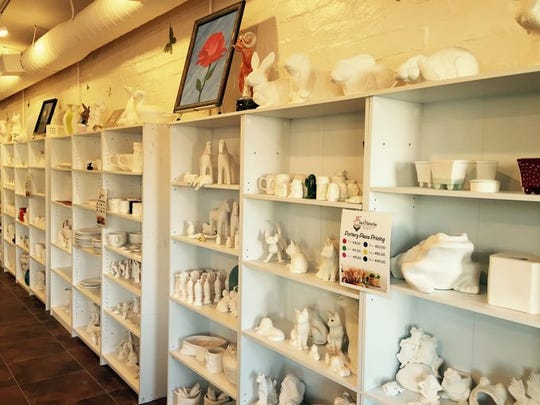 Burst of Butterflies, a pottery painting and art studio