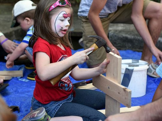 Family Fest's Creation Station draws children to participate in arts and crafts.