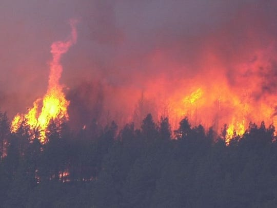 The Rodeo-Chediski Fire in 2002 near Show-Low