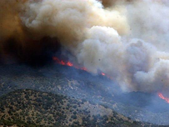 The Aspen Fire in 2003 in Mount Lemmon