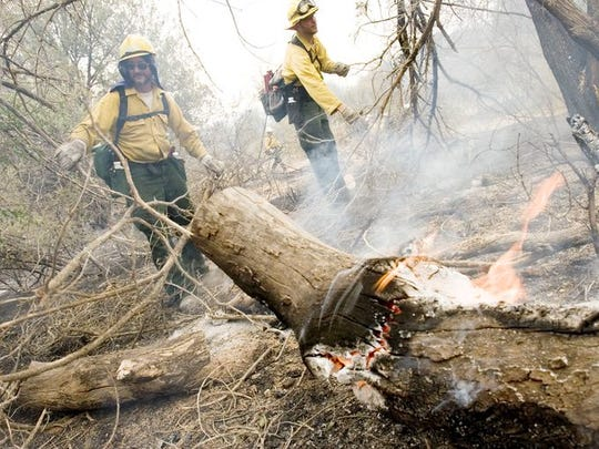 Edge Complex Fire in 2005 in Punkin Center in Gila County