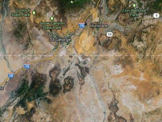 The Tank Complex fire in 2005 near the Arizona-Utah