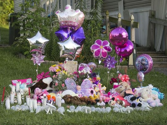 Friends, neighbors and loved ones created this memorial