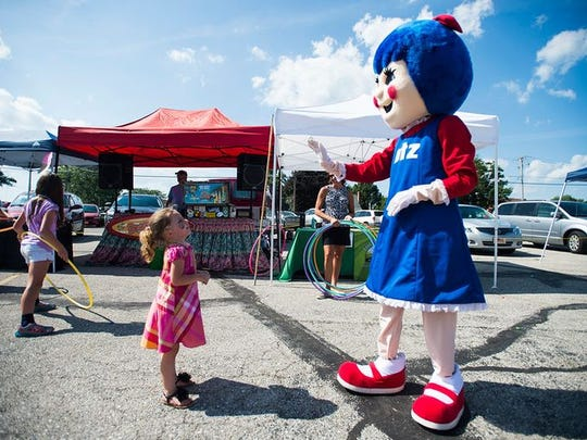 Sallie Utz character at a past Utz Summer Bash in Hanover.