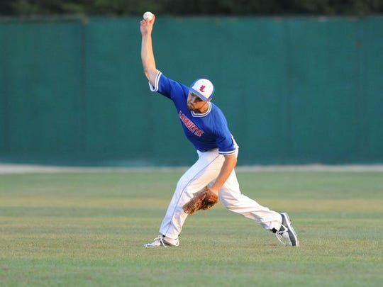 Lafayette's Jonathan LaGuire played right field during the Colt World Series