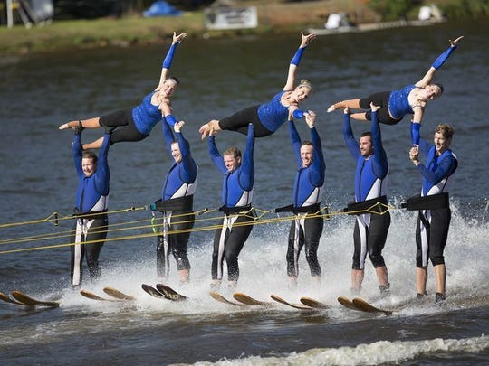The World Water Ski Show Tournament will take place Sept. 9-11 at Lake Wazeecha's Red Sands Beach, 6411 S. Park Road in Grand Rapids.